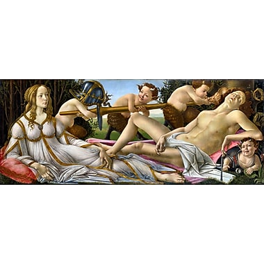 Wallhogs Botticelli Venus and Mars (1483) Poster Wall Mural; 24'' H x 60'' W