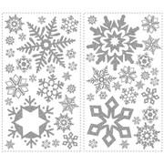 Wallhogs Glitter Snowflakes Wall Decal