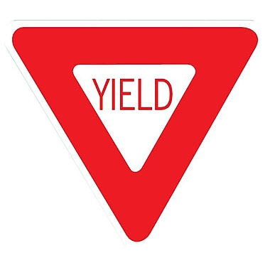 Wallhogs Yield Sign Wall Decal; 48'' H x 48'' W