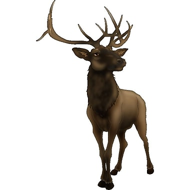 Wallhogs Elk Wall Decal; 36'' H x 22'' W