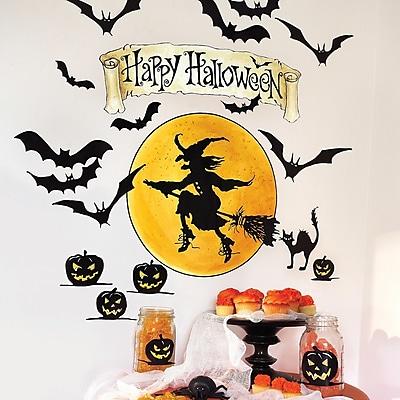 Wallies Happy Halloween Holiday Wall Decal (Set of 2)