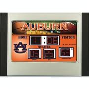 Team Sports America NCAA Scoreboard Desk Clock; Auburn