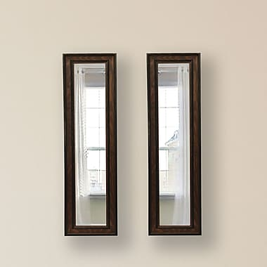 Rayne Mirrors Molly Dawn Country Pine Mirror Panels (Set of 2); 27.5'' H x 13.5'' W x 0.75'' D