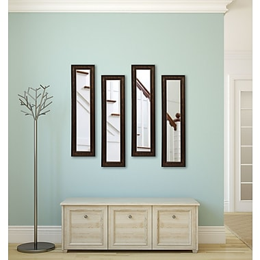 Rayne Mirrors Molly Dawn Country Pine Mirror Panels (Set of 4); 19.5'' H x 7.5'' W x 0.75'' D