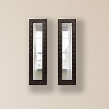 Rayne Mirrors Molly Dawn Espresso Bricks Mirror Panels (Set of 2); 28.5'' H x 10.5'' W x 0.75'' D
