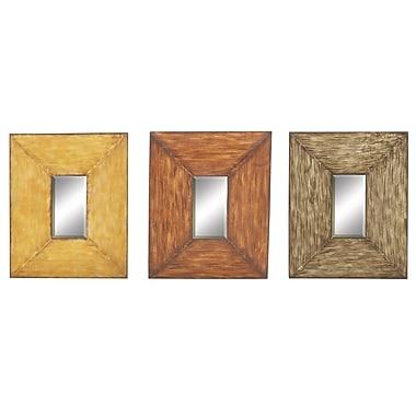 Woodland Imports Wall Mirror; 16'' H x 20'' W
