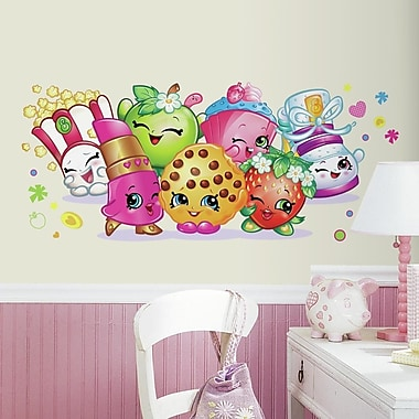 Room Mates Shopkins Pals Peel and Stick Giant Wall Graphic