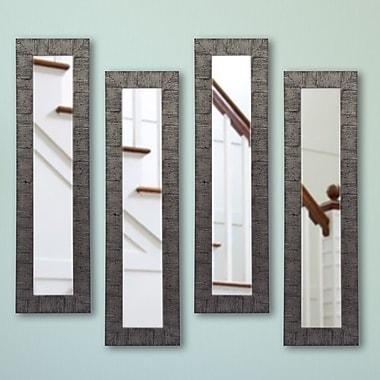 Rayne Mirrors Molly Dawn Mirror Panel (Set of 4); 9.5 X 30.5