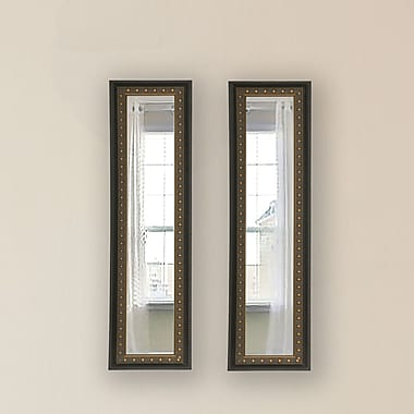 Rayne Mirrors Molly Dawn Mirror Panel (Set of 2); 7.5 X 23.5