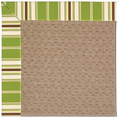 Capel Zoe Grassy Mountain Machine Tufted Green/Brown Indoor/Outdoor Area Rug; Rectangle 7' x 9'