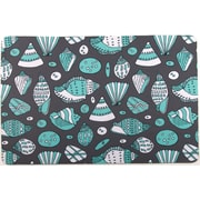 Island Girl Home Coastal Aqua Shells Mat