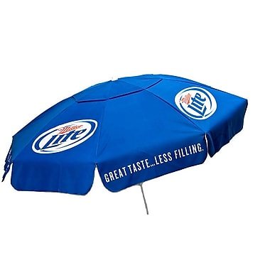 Parasol 6' Miller Lite Poly Umbrella; Patio Pole