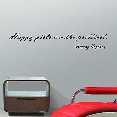 Pop Decors Happy Girls are the Prettiest Wall Decal