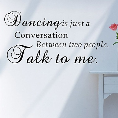 Pop Decors Dancing is Just a Conversation Wall Decal