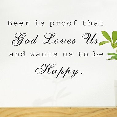 Pop Decors Beer is Proof Wall Decal
