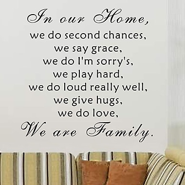 Pop Decors We Are Family Wall Decal