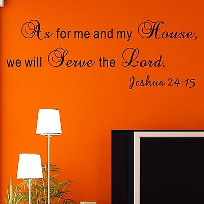 Pop Decors We Will Serve The Lord- Joshua 24:15 Wall Decal