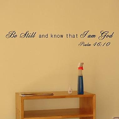 Pop Decors I Am God- Psalm 46:10 Wall Decal