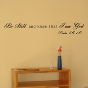 Pop Decors I Am God- Psalm 46:10 Wall Decal