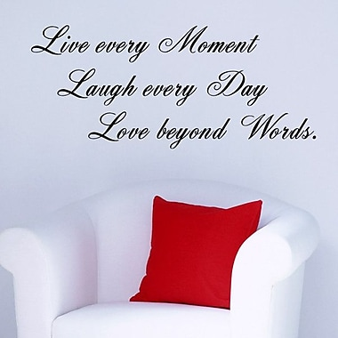 Pop Decors Live Every Moment Wall Decal