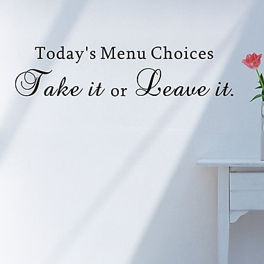 Pop Decors Today's Menu Choices Wall Decal