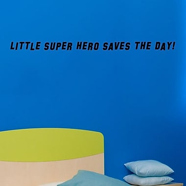 Pop Decors Little Super Hero Saves the Day Wall Decal