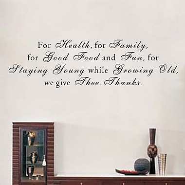 Pop Decors We Give Thee Thanks Wall Decal