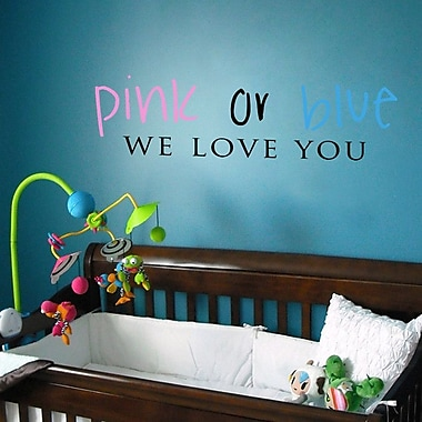 Pop Decors Pink or Blue Wall Decal