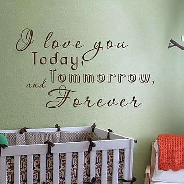 Pop Decors I Love You Today Wall Decal