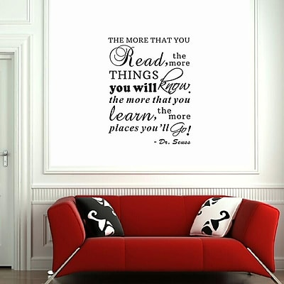 Pop Decors The More That You Read,The More Things You Will Know Wall Decal