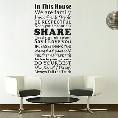 Pop Decors Home Rules Wall Decal