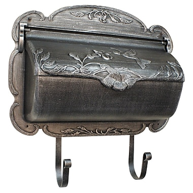 Special Lite Products Hummingbird Wall Mounted Mailbox; Swedish Silver