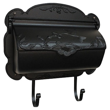 Special Lite Products Hummingbird Wall Mounted Mailbox; Black