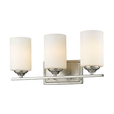 Z-Lite Bordeaux 3-Light Vanity Light; Brushed Nickel