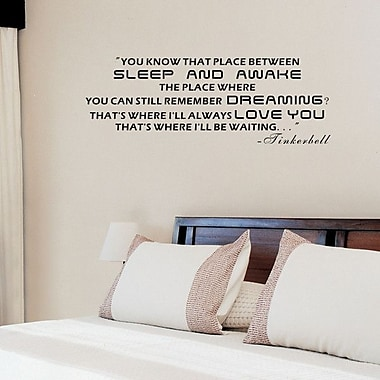 Pop Decors You Know That Place Between Sleep and Awake Quote Wall Decal