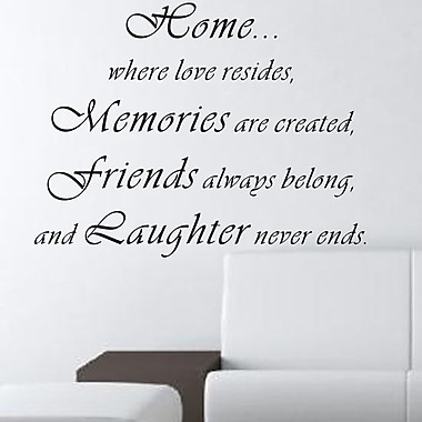 Pop Decors Home...Where Love Resides Wall Decal