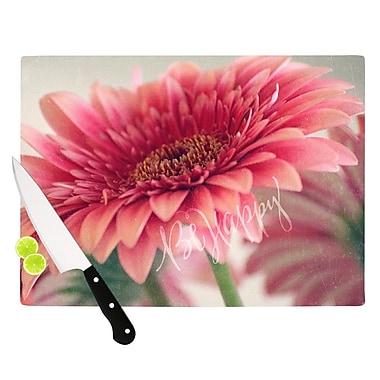 KESS InHouse Be Happy Cutting Board; 11.5'' W x 8.25'' D