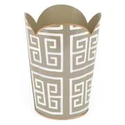 Jayes Greek Key Tulip Metal Waste Basket