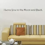 Pop Decors I Love You to the Moon and Back Wall Decal