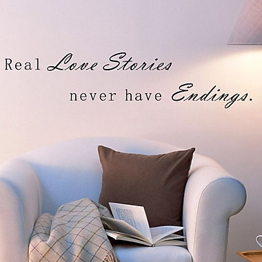 Pop Decors Real Love Stories Never have Endings Wall Decal
