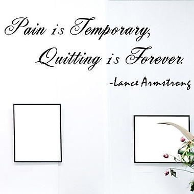 Pop Decors Pain is Temporary- Lance Armstrong Wall Decal