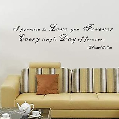 Pop Decors I Promise to Love You Forever- Edward Cullen Wall Decal