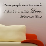 Pop Decors Some People Care Too Much- Winnie the Pooh Wall Decal