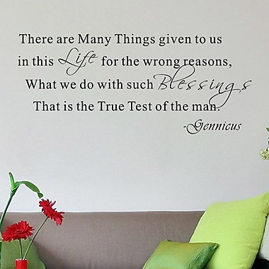 Pop Decors That is the True Test of the Man- Gennicus Wall Decal