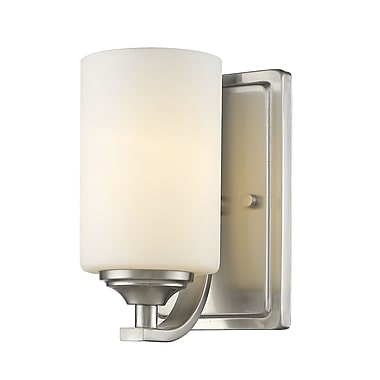 Z-Lite Bordeaux 1-Light Wall Sconce; Brushed Nickel