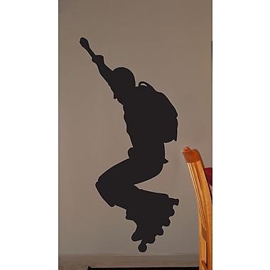 Wallhogs Roller Blade Silhouette III Cutout Wall Decal; 72'' H x 33.5'' W
