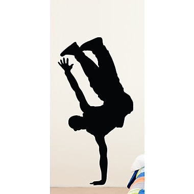 Wallhogs Steet Dancer Silhouette Cutout Wall Decal; 60'' H x 30.5'' W
