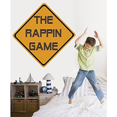 Wallhogs The Rappin Game Sign Wall Decal; 24'' H x 24'' W