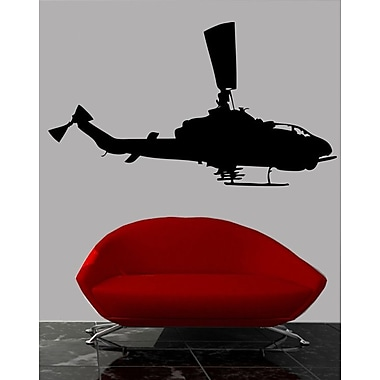 Wallhogs Haynes Silhouette Helicopter X Cutout Wall Decal; 27'' H x 48'' W