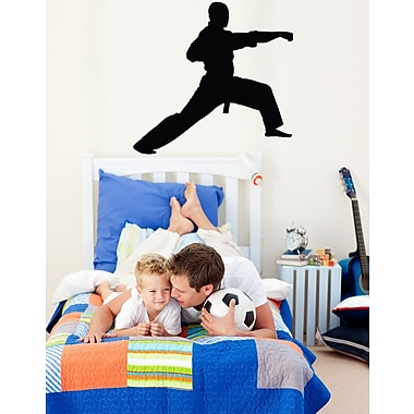 Wallhogs Martial Arts Lunge Silhouette Cutout Wall Decal; 24'' H x 23'' W